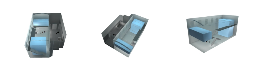 Rada Markovic, lighting design for Massimo Vitali home 15 3D renders DIALux lighting calculation program