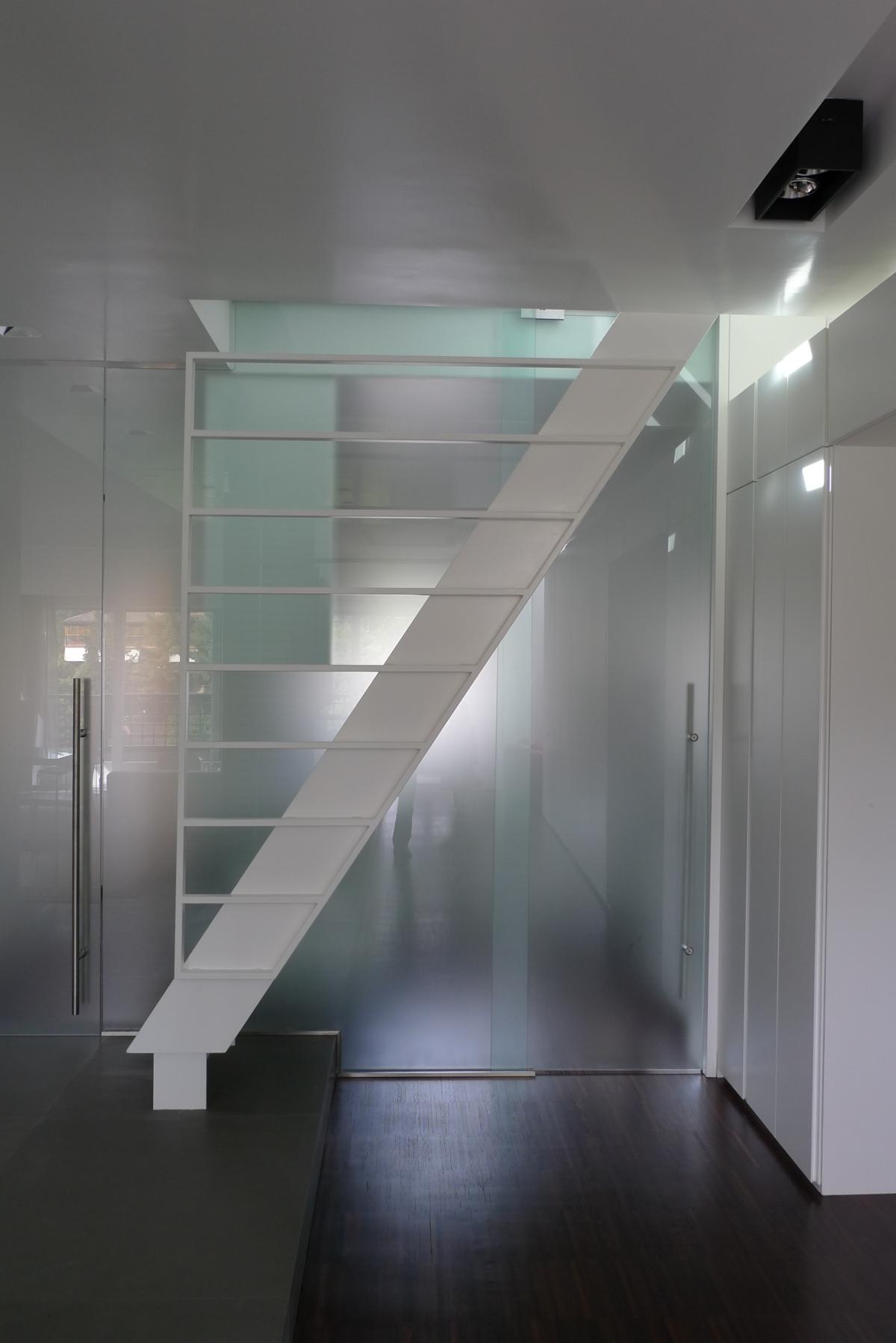Riqualificazione di un attico romano Westway Architects, scala interna