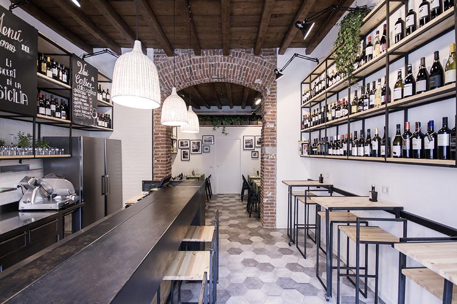 Muddica bistro Milan par l'étude DIDEA
