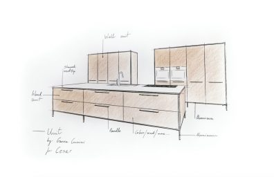 Cesar mueble de cocina, García Cumini diseño - previsualización Fuorisalone 2016