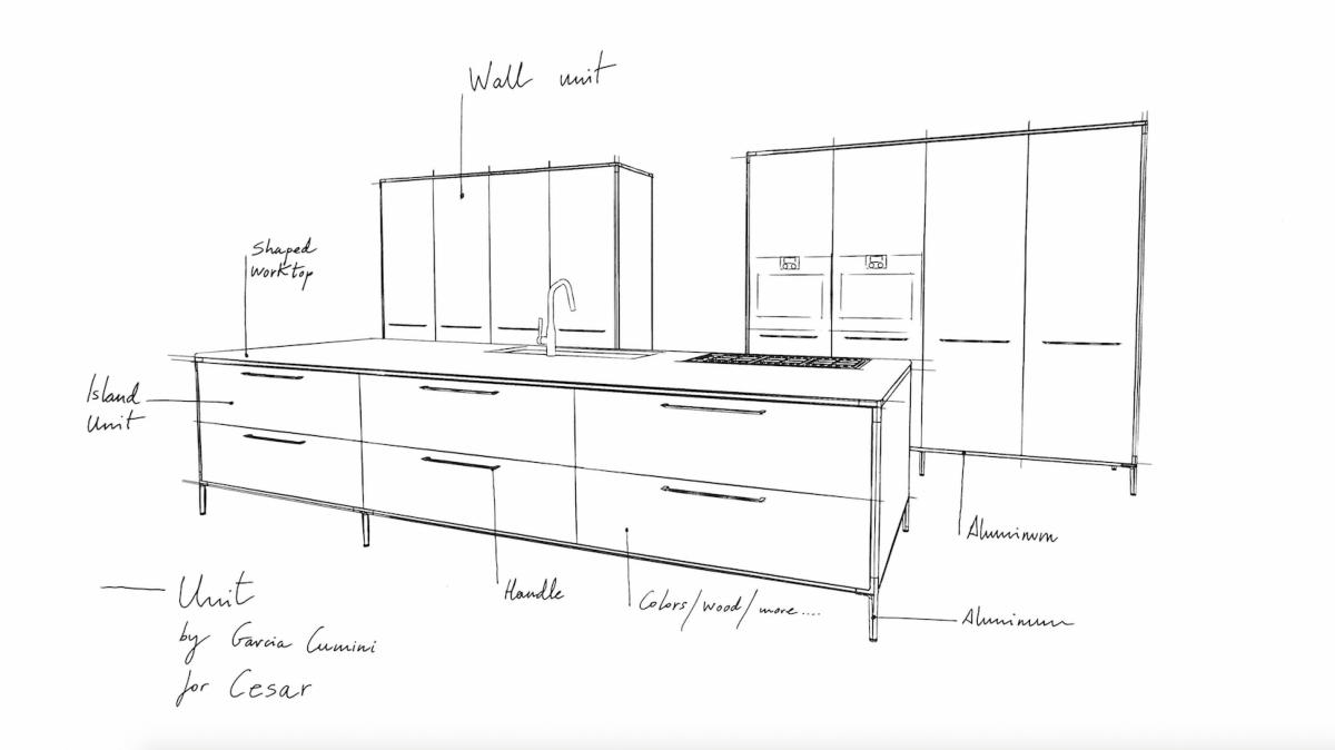 Cesar cucina Unit, design Garcìa Cumini - anteprima Fuorisalone 2016