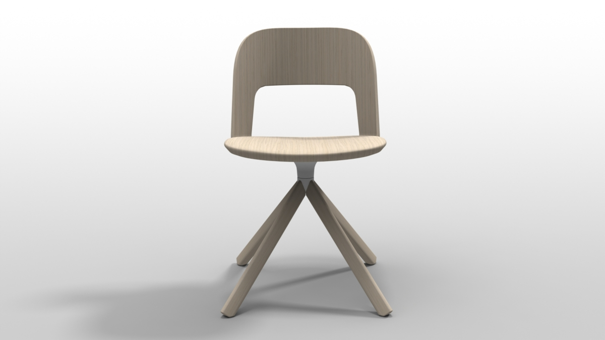 Lapalma chair Arco 4 legs bent wood