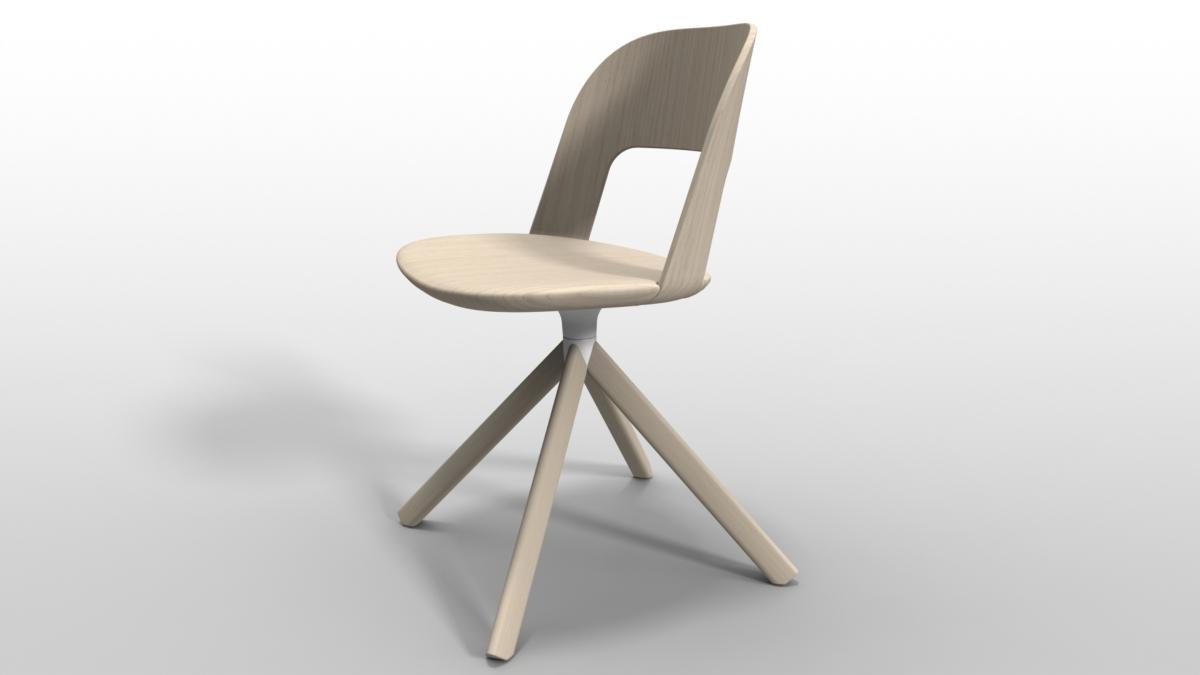 Lapalma sedia Arco 4 gambe legno curvato