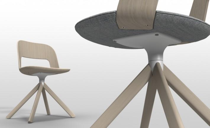 Lapalma sedia Arco legno curvato