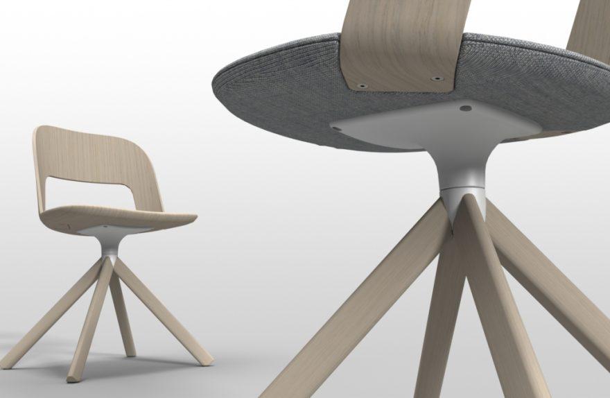 Lapalma cadeira arco de madeira curvada