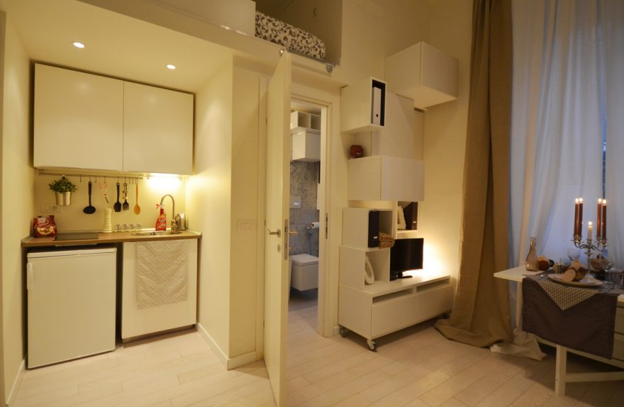 transformación mini-apartamento en Milán, el arquitecto Martina Margaria