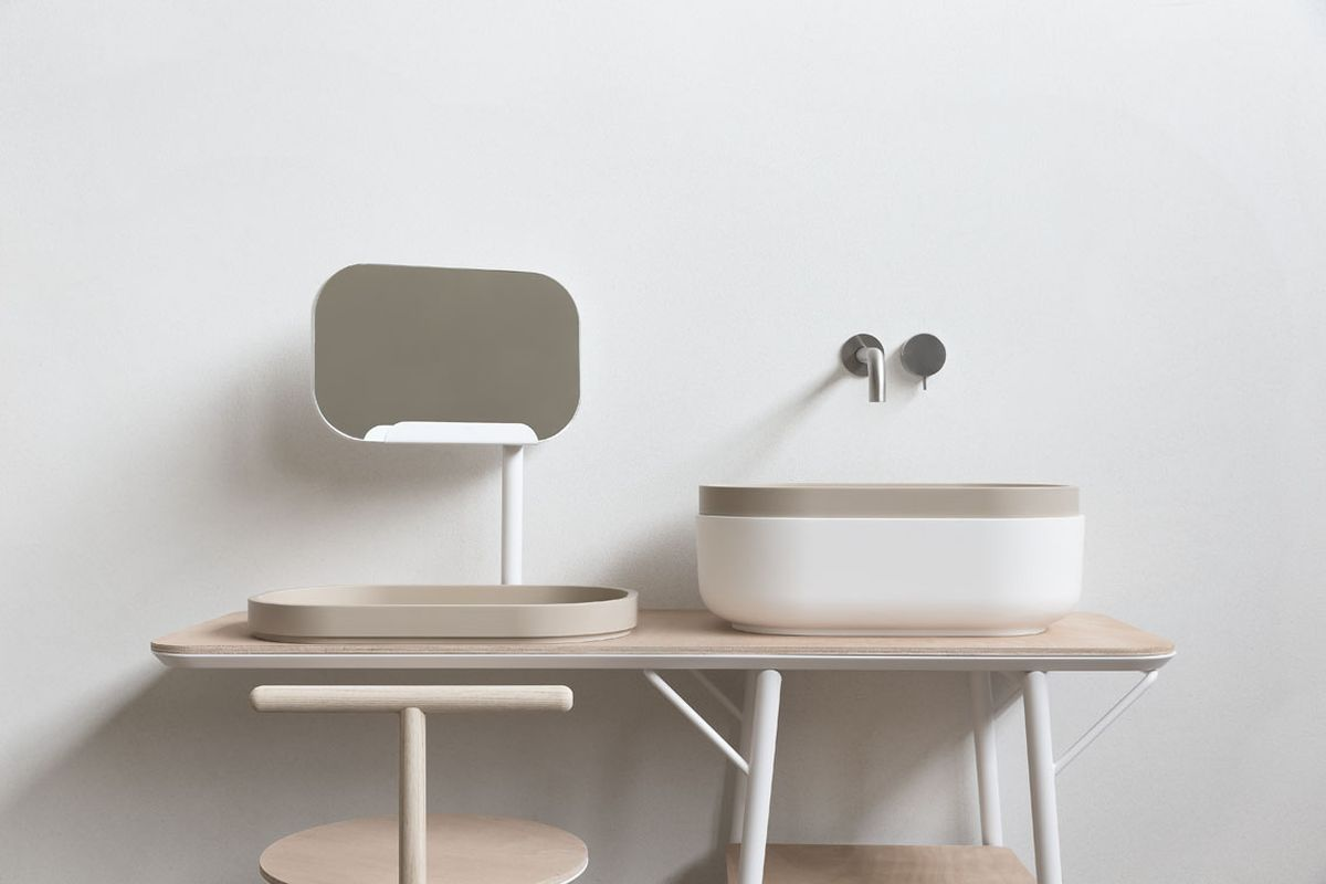 Oblon, collection for bathroom furniture by Novello