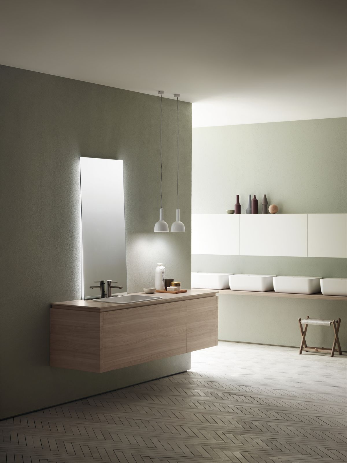 Scavolini Bathrooms Ki collection, design Nendo