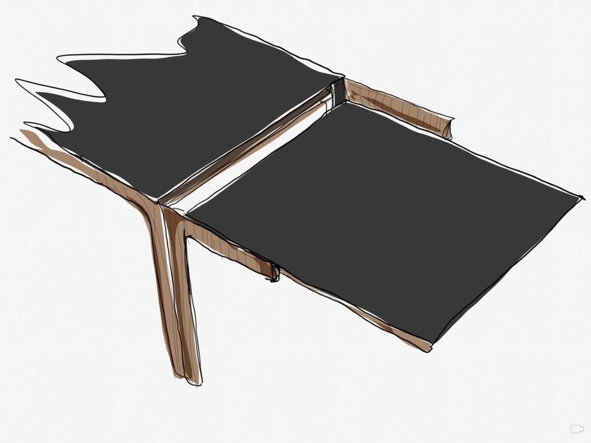 Amalong Tisch, Giulio Iacchetti für Bross, Extraktion von Erweiterungen
