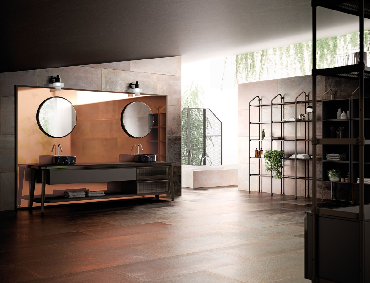 Diesel with Scavolini, Open Workshop bathroom environment