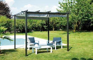 Pergola ak glisman Greenwood do kay