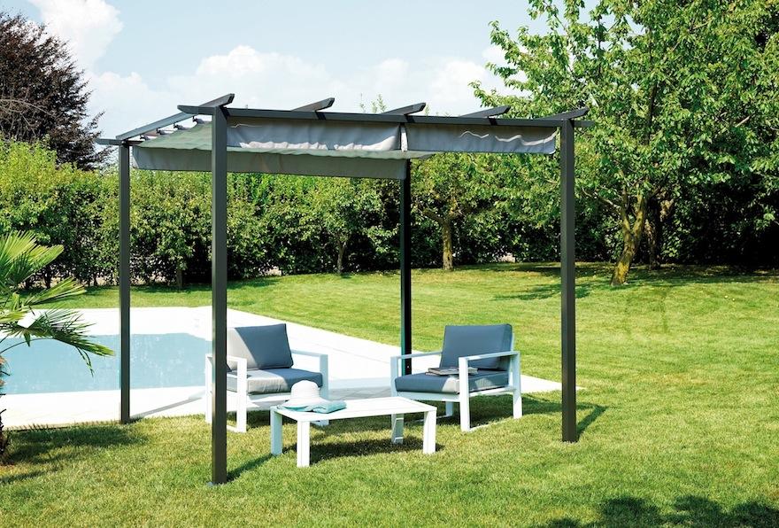 pergola mit dach greenwood schiebe leben auf den garten 360. Black Bedroom Furniture Sets. Home Design Ideas