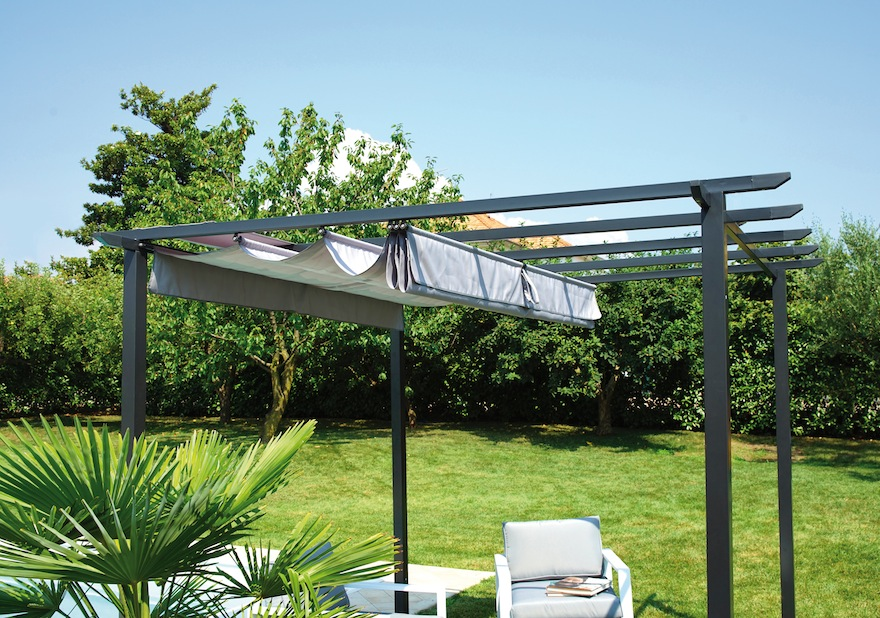 pergola mit dach greenwood schiebe leben auf den garten 360. Black Bedroom Furniture Sets. Home Design Ideas