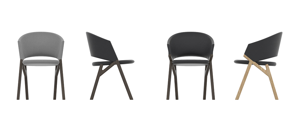 Byron, collezione di sedie, Riccardo Giovanetti per P&C