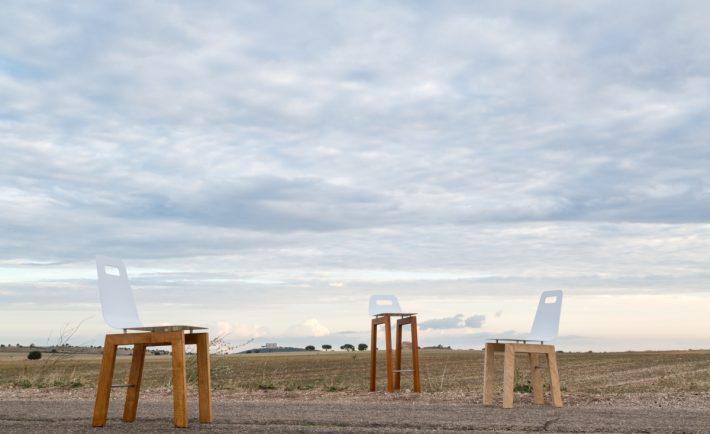 """""""Timo chair""""e """"Timo stool"""", design Michelangelo Olivieri per m12 AD"""