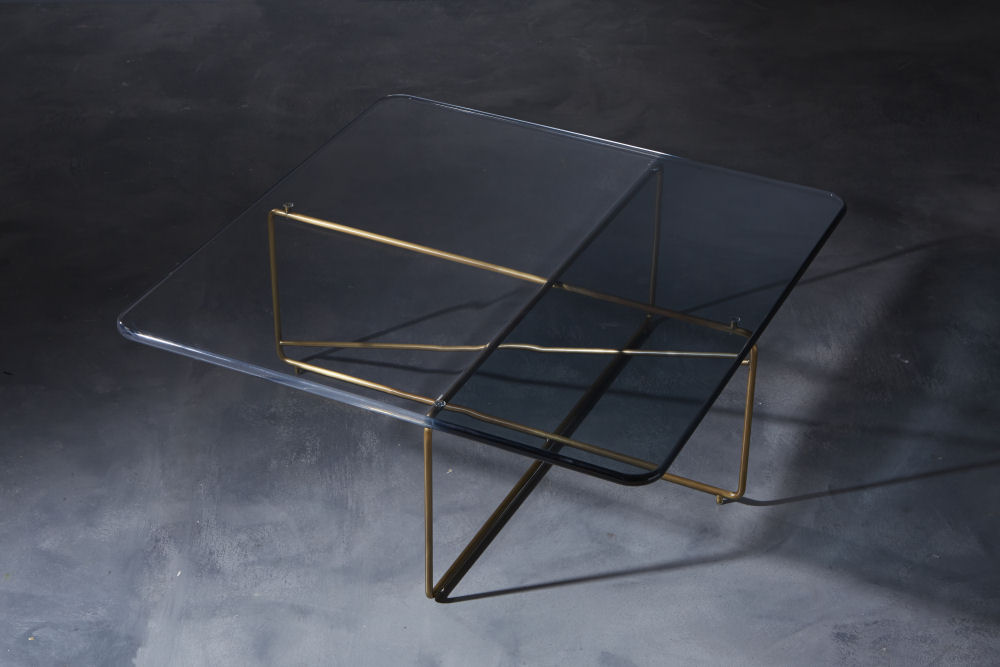 Roberto Giacomucci, coffee table ametrine