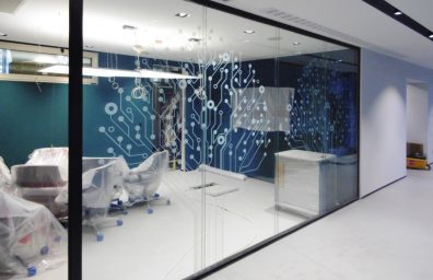 Pasha bank glass partitions