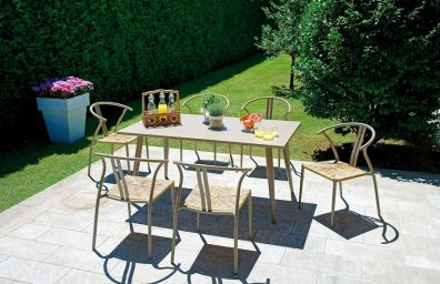 dining set, table and chair Trapani Erice