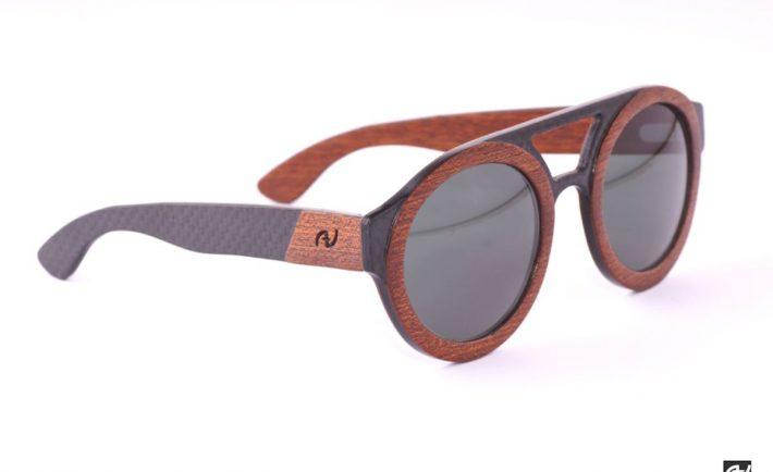 Massimo Annibali, occhiali in legno e carbonio