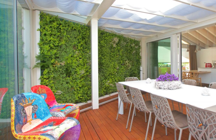 Sundar Italy private house vertical garden terrace