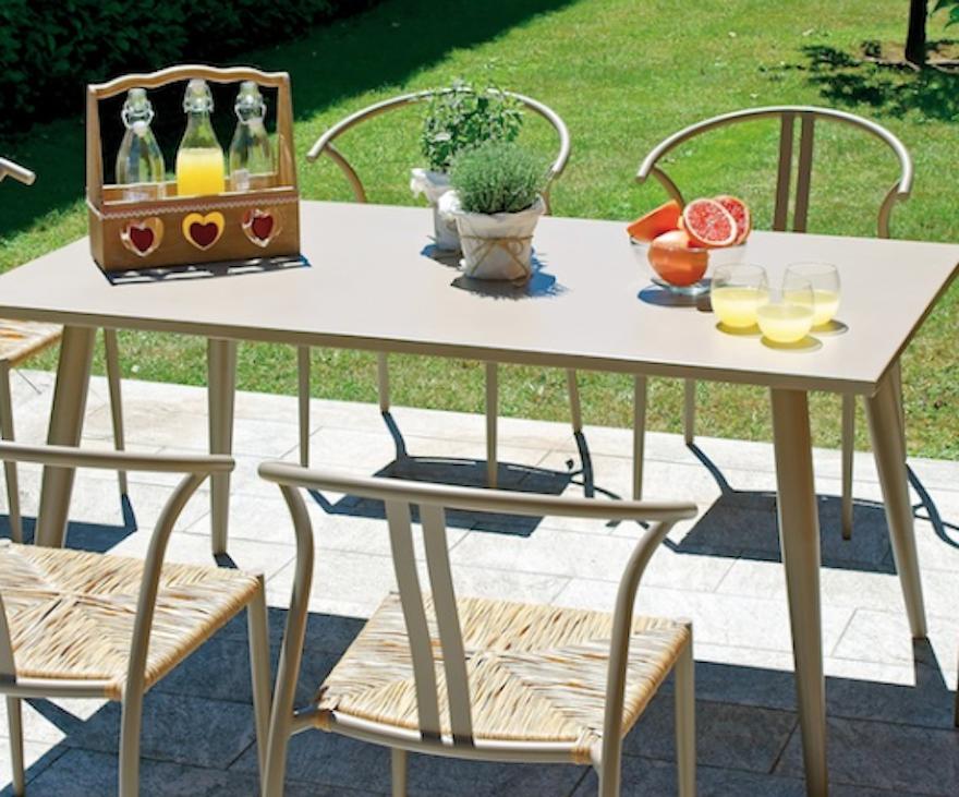 conjunto de jantar, mesa e cadeira de Trapani Erice