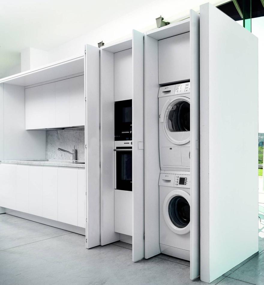 Soluzioni con lavatrice da incasso 4 social design magazine - Mobile per lavastoviglie da incasso ...