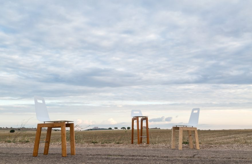 """Timo chair"" and ""thyme stool"", Michelangelo Olivieri design for m12 AD"