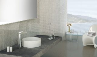 Tap floor Synergy Open 93 sink basin