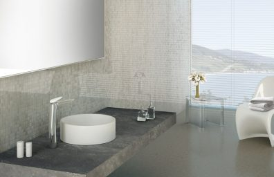 Tap floor Synergy Open 93 sink basin