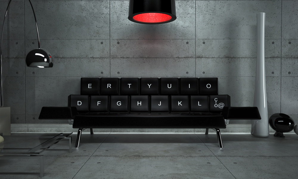 Qwerty Sofa, Concepticon design studio Andrea Cingoli
