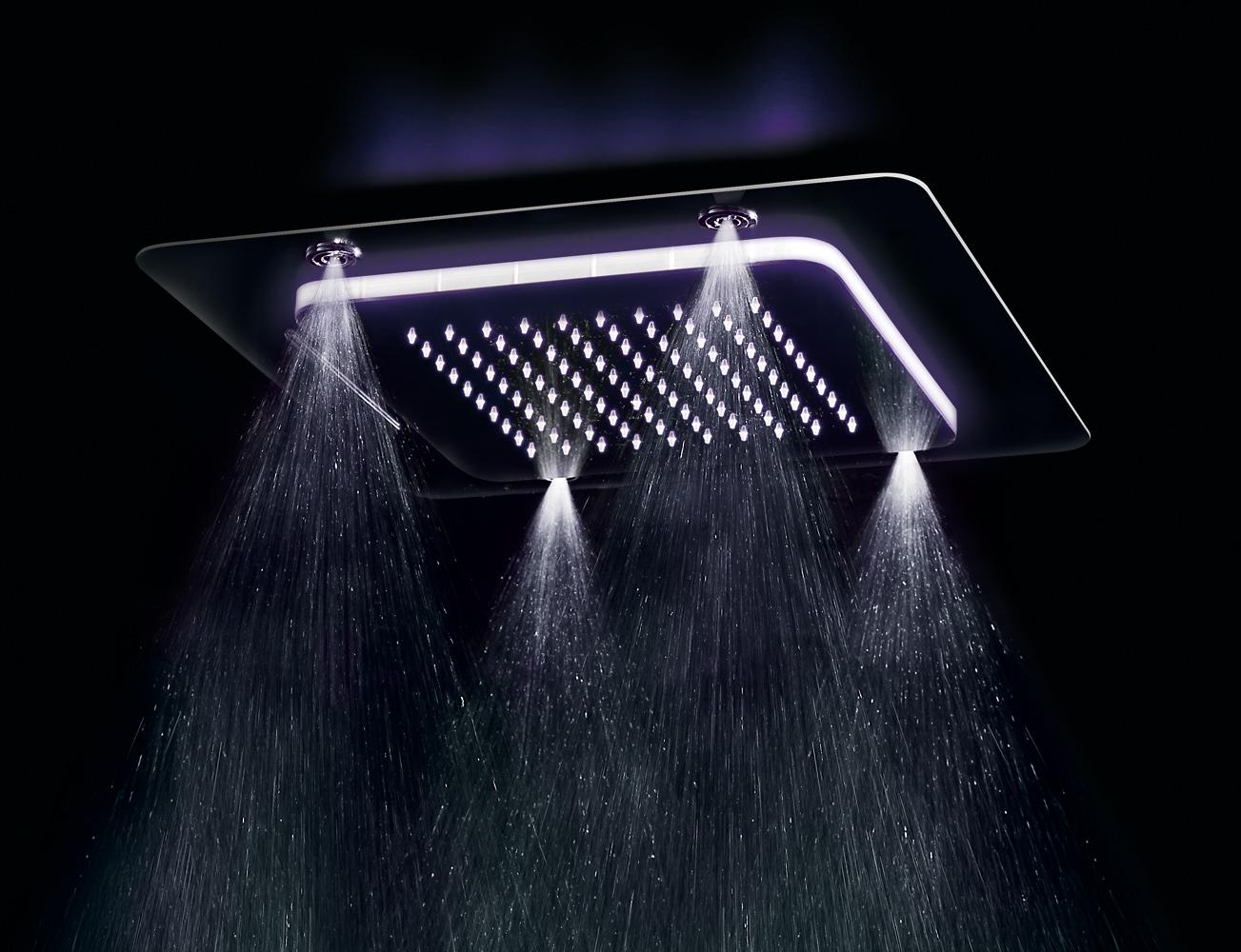 Soffione doccia multifunzione Playone incasso a soffitto