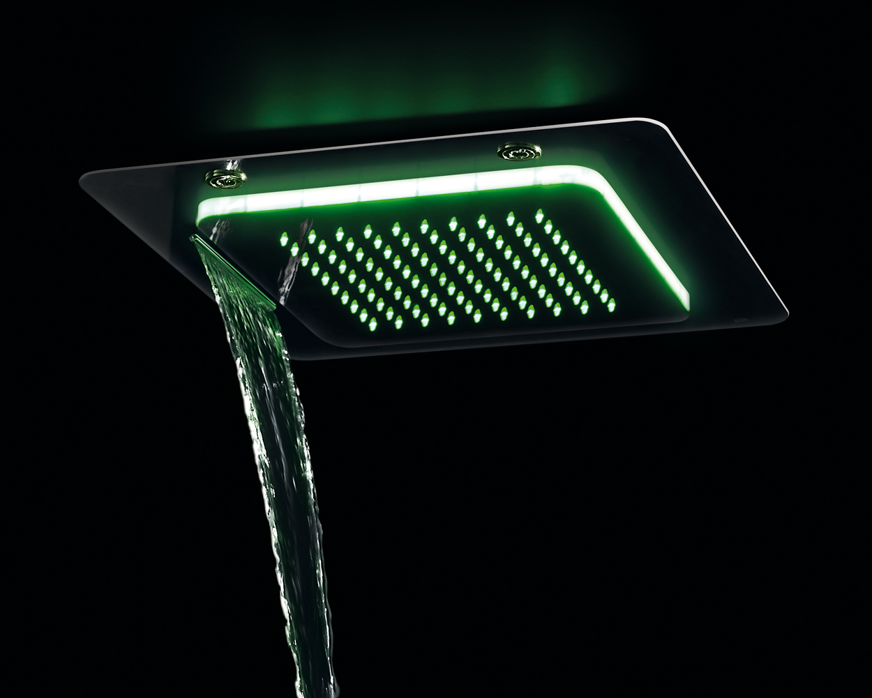 """多機能シャワーヘッドシャワーPlayoneは天井、ウォータージェット """"カスケード""""を凹ん"""