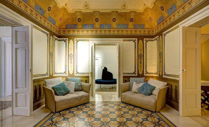Corato, Puglia: interni della casa ristrutturata dall'arch. Esther Tattoli.
