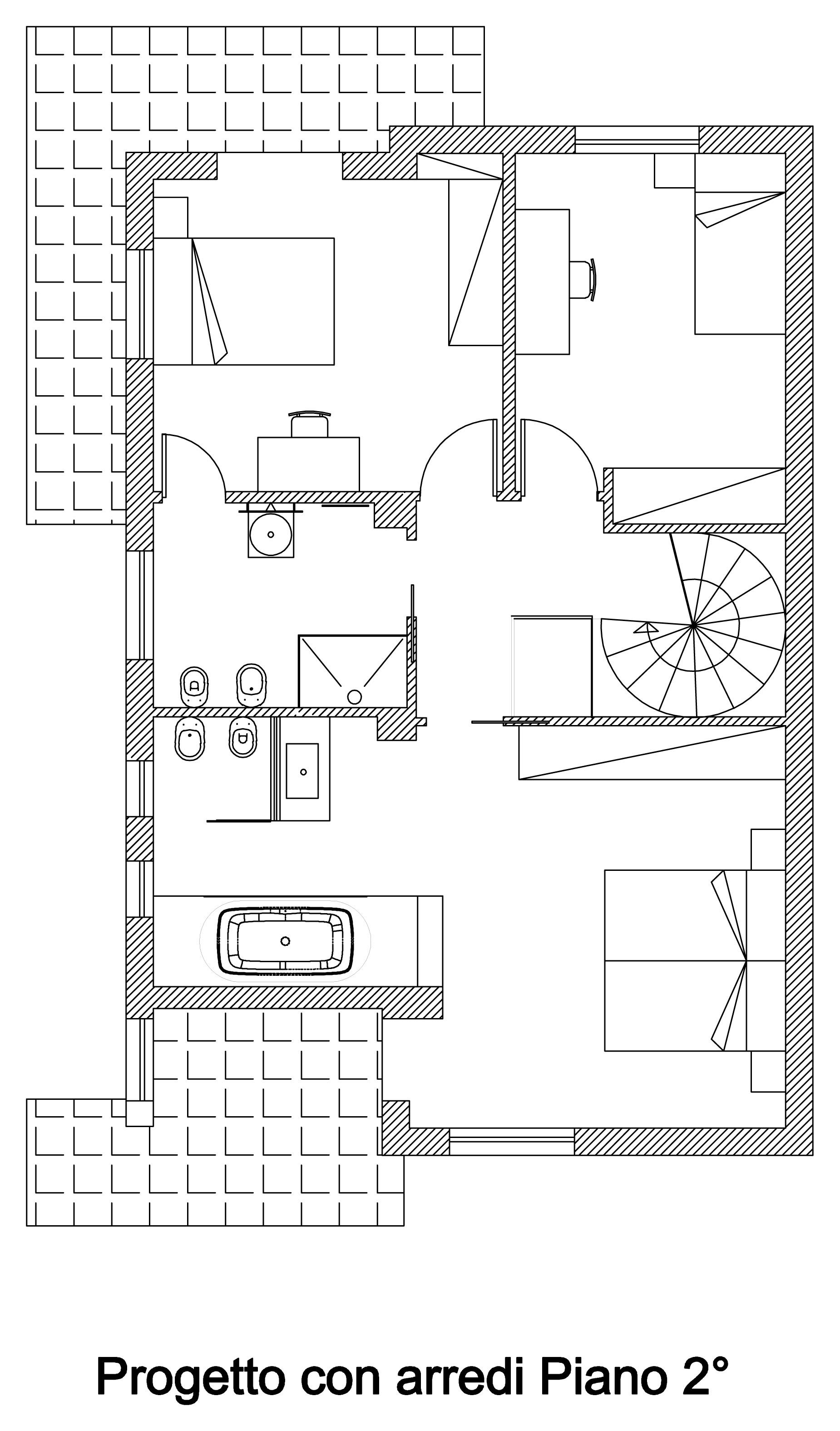 arco-arnone-interior-diseño-de-unabitazione-de-2-niveles del piso segundo