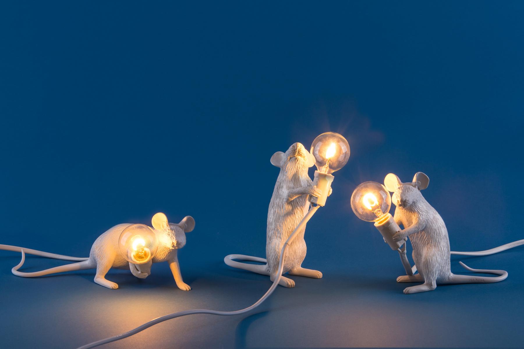 Seletti mouse Lamp. Desenho: Marcantonio Raimondi Malerba