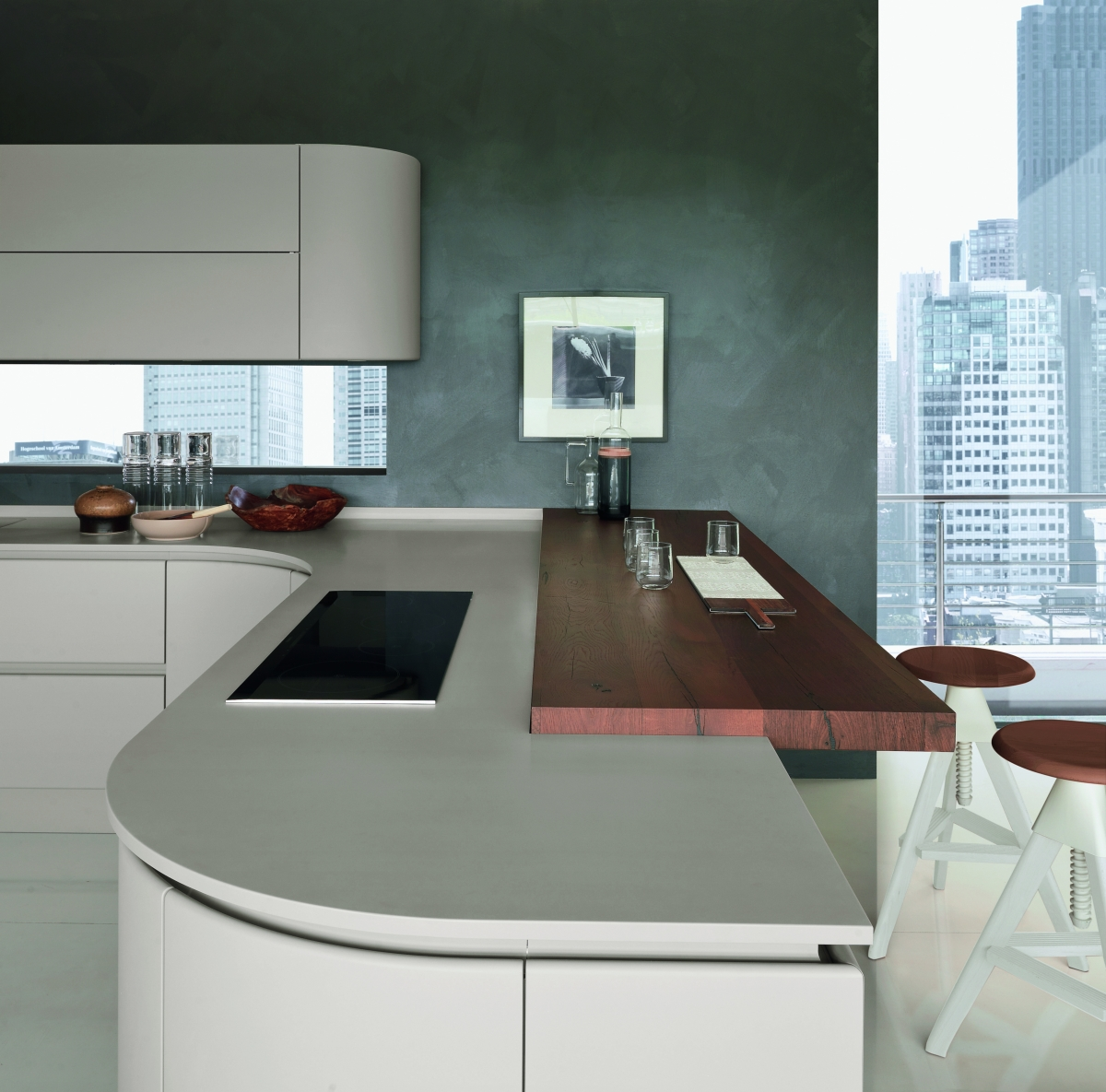 Artica Pedini kitchen with top in Hi-Macs