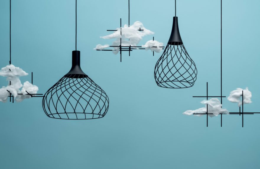 Suspended chandelier Mongolfier Linea Light Group