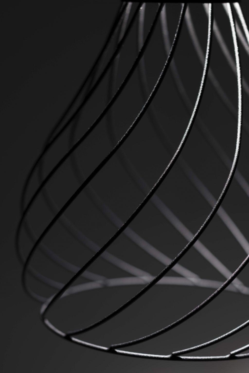 Lampadario a sospensione Mongolfier di Linea Light Group nero, dettaglio