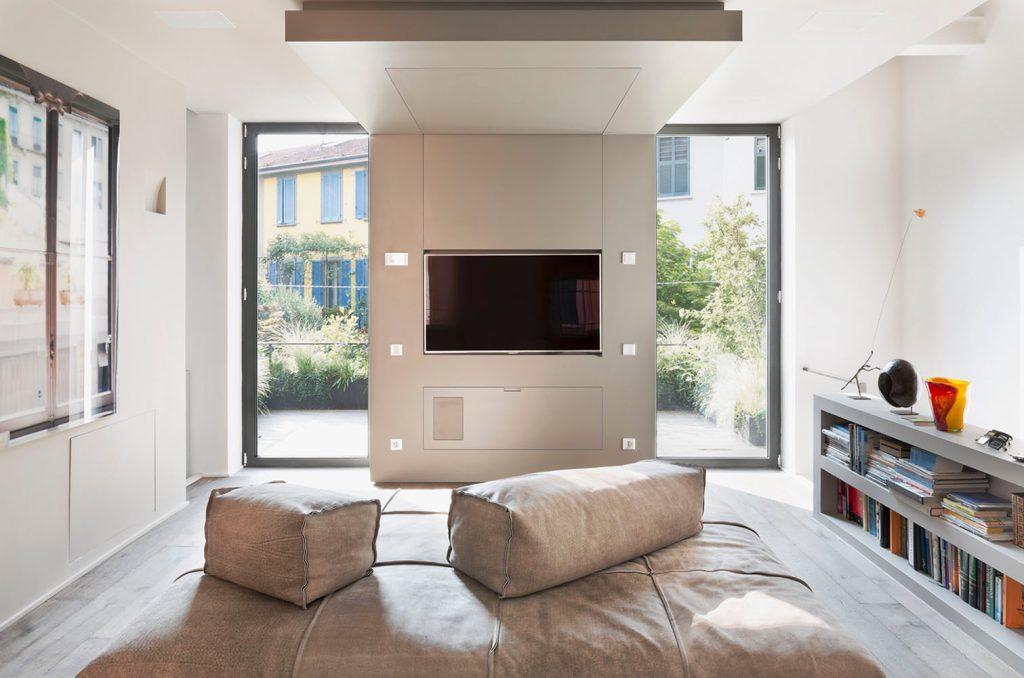 Loft verticale Westway Achitects, zona soggiorno