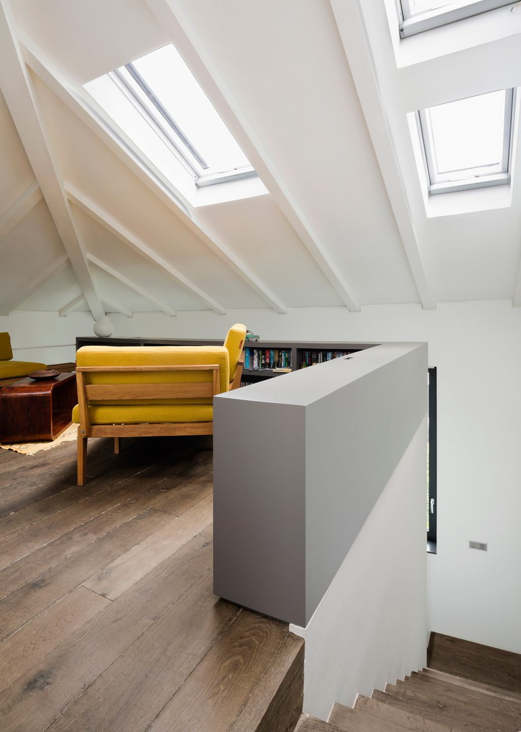 Westway Achitects vertical loft, attic transformed in the studio