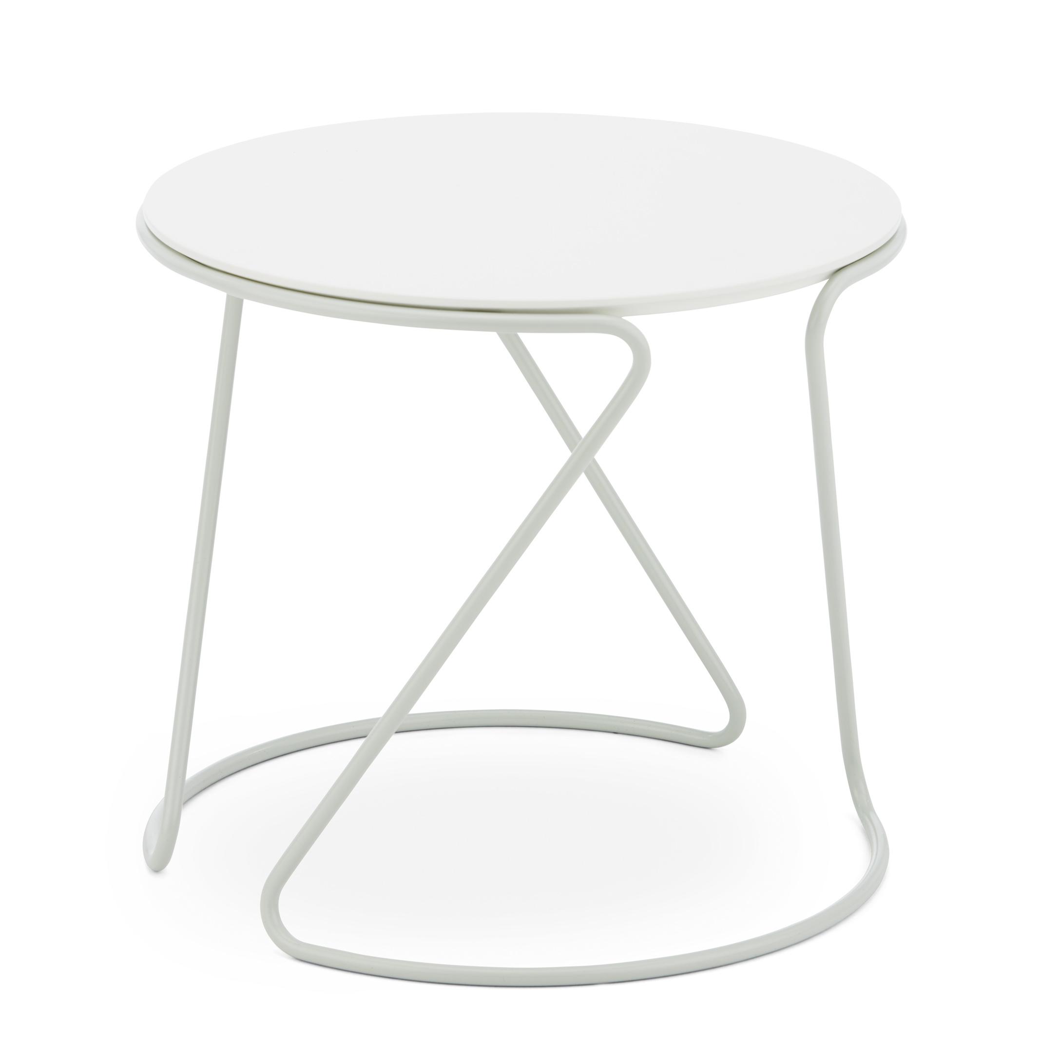 Tavolo d'appoggio Thonet S 18 design Uli Budde, bianco