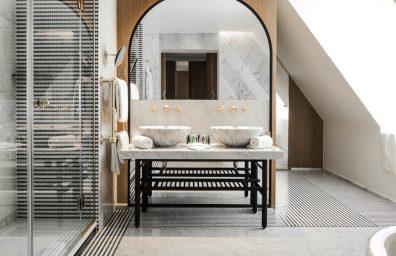 Hôtel Vernet salle de bains