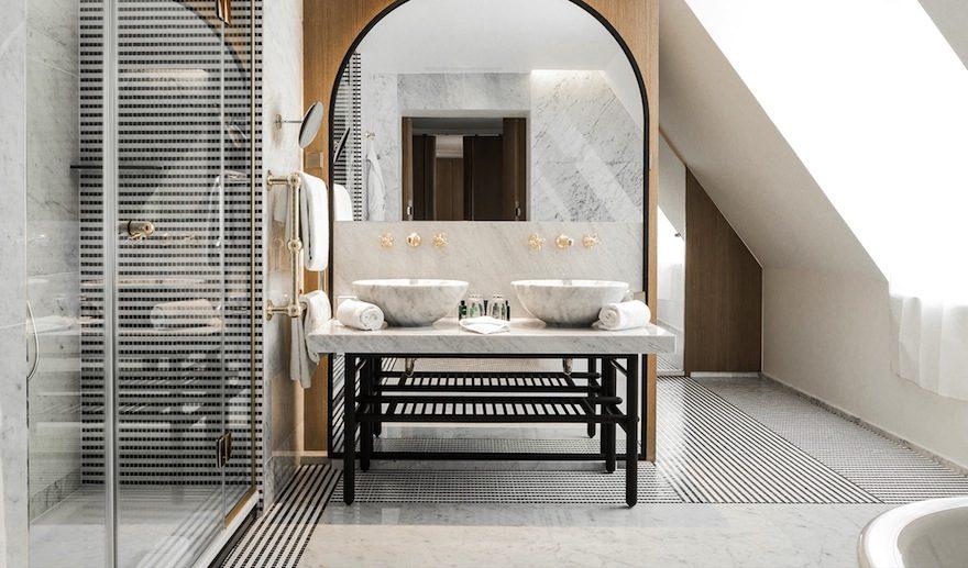 ホテルヴェルネのバスルーム