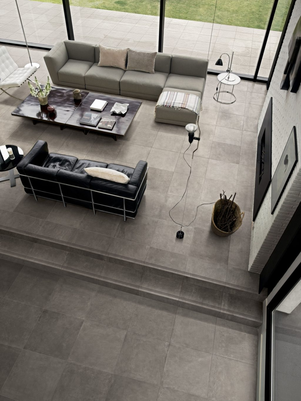 Keramik Beton-Effekt claymood grau 60x60cm