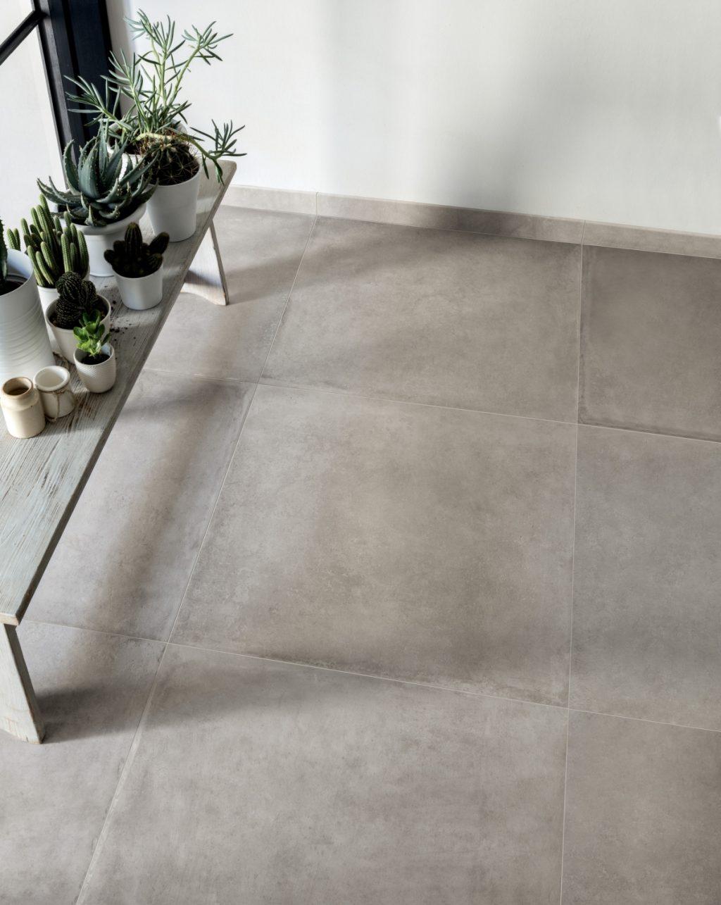 Keramik Beton-Effekt claymood 80x80 Perlen cm
