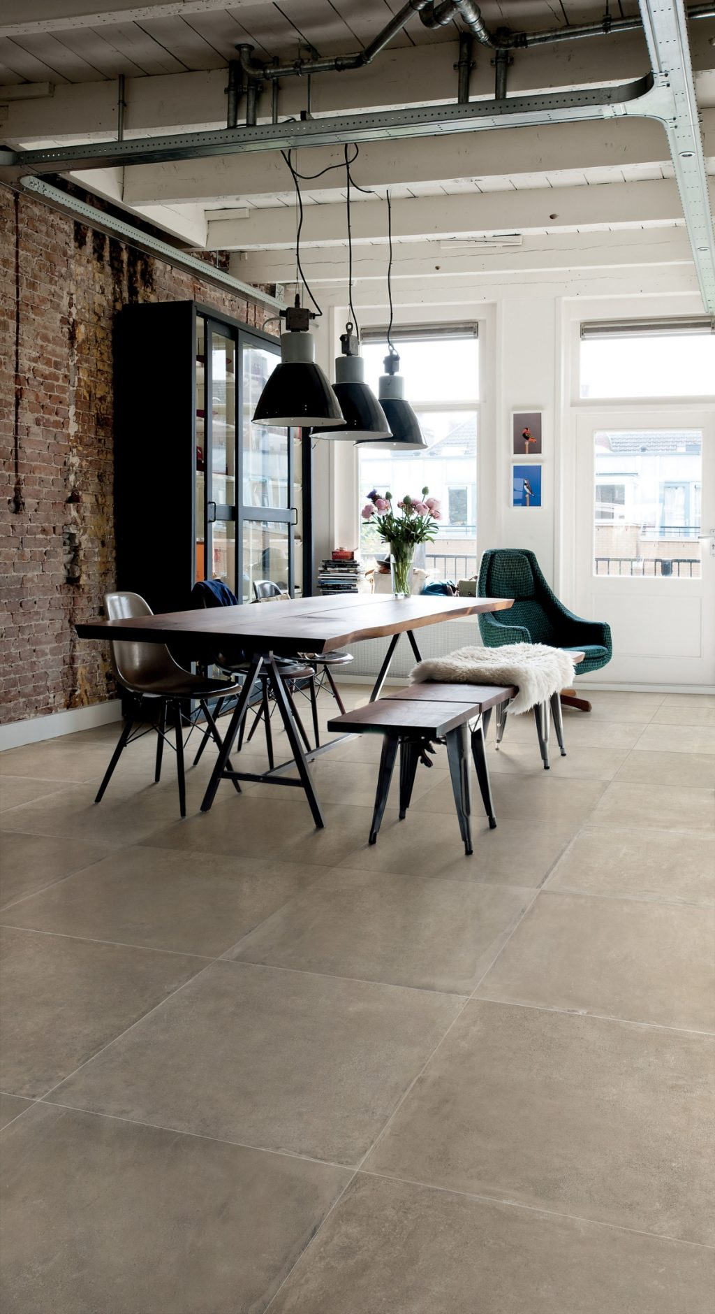 Keramik Beton-Effekt claymood Sand 80x80cm