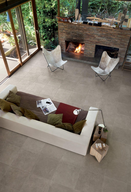 Keramik Beton-Effekt claymood taupe 60 x 60cm