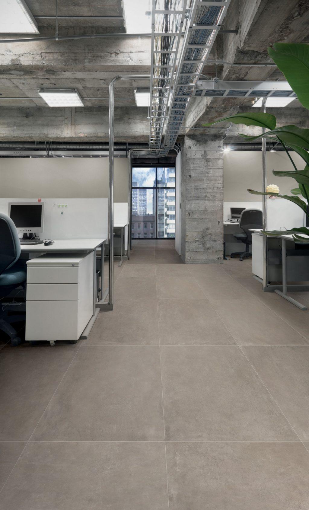 Keramik Beton-Effekt claymood taupe 60x120 cm