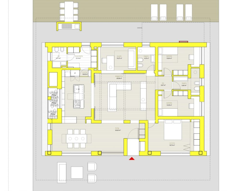 Villa PNK a sustainable house Studio m12 AD, floor plan