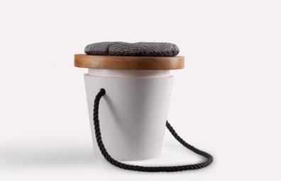 Boulangerie Tabouret par Atelier macramé